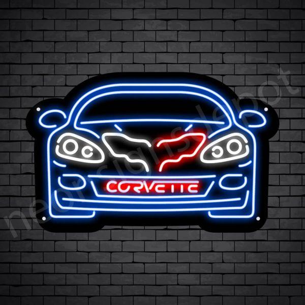 C6 Corvette Neon Bar Sign - Black
