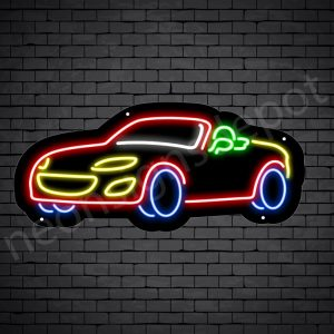 Car Neon Sign Auto Car Black 24x11