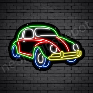 Car Neon Sign AUTOMOTIVE Vintage Style Black - 24x15