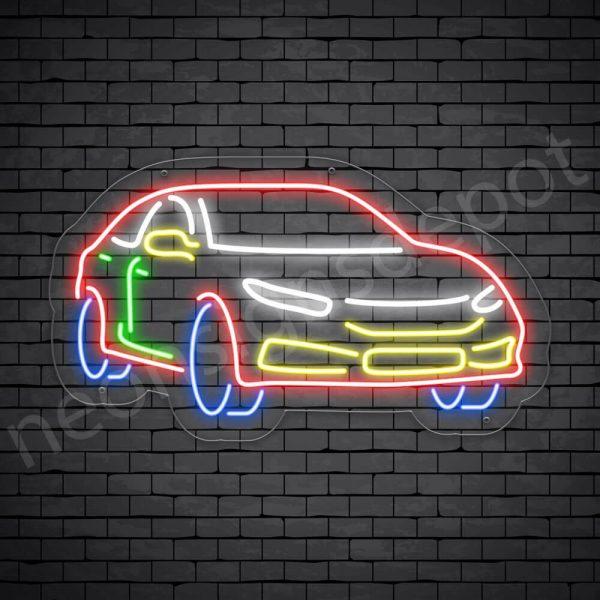 Car Neon Sign AUTOMOTIVE CAR Transparent - 24x14