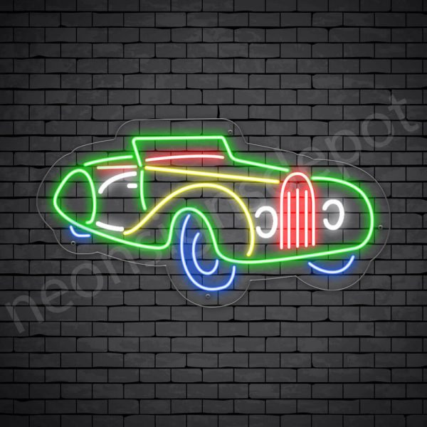 Car Neon Sign Bugatti Transparent - 30x16