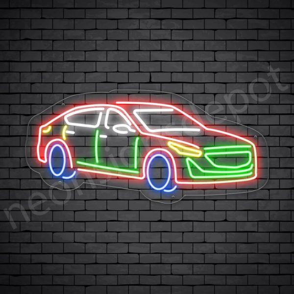 Car Neon Sign Cadillac CT5 Transparent - 30x14