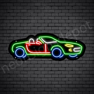 Car Neon Sign Fancy Car Black - 24x9