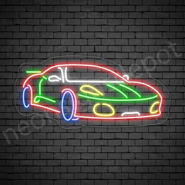 Car Neon Sign Ferrari Transparent - 24x11