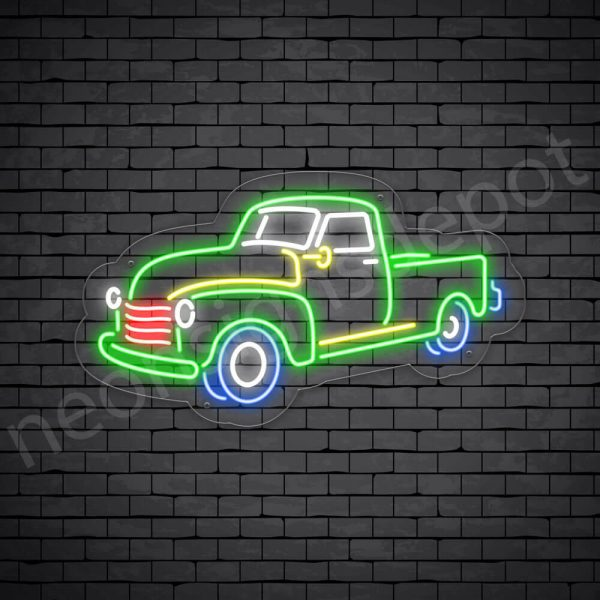 Car Neon Sign New Ford Pick Up Museum 24x14