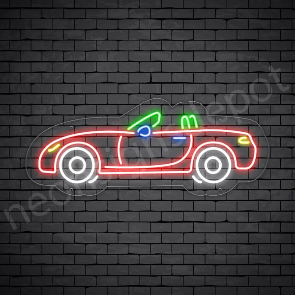 Car Neon Sign New Truck Museum 24x10