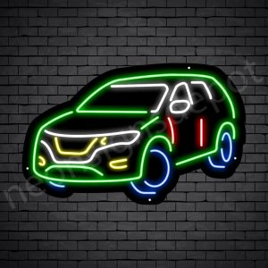 Car Neon Sign SUV Car - black