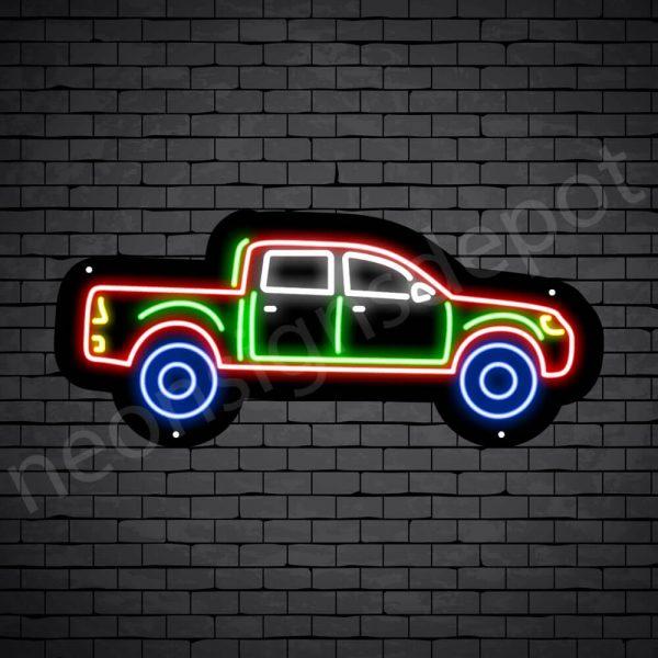 Car Neon Sign Tata Xenon Pick Up Black - 24x10
