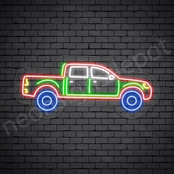 Car Neon Sign Tata Xenon Pick Up Transparent - 24x10