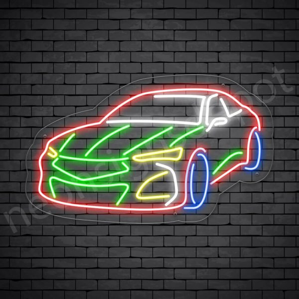 Car Neon Sign Zero Acura Types transparent - 24x14