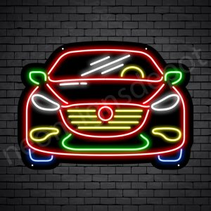 Car Neon Sign Ferrari Front Car Black - 24x18