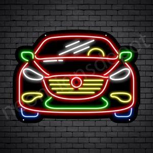 Car Neon Sign Ferrari Front Car Black - 24x18