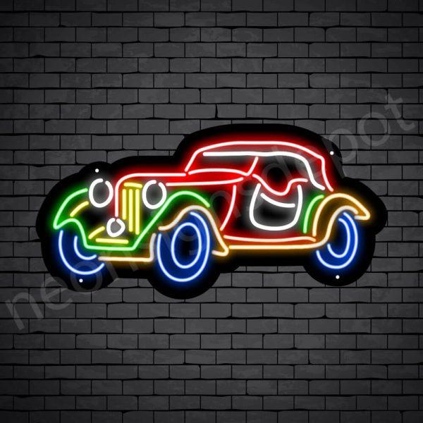 Car Neon Signs Magic Car Black - 24x12