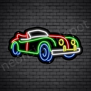 Car Neon Sign New Ford Classic Style Black- 24x12