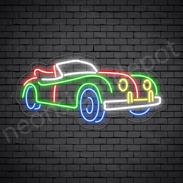 Car Neon Sign New Ford Classic Style Transparent - 24x12