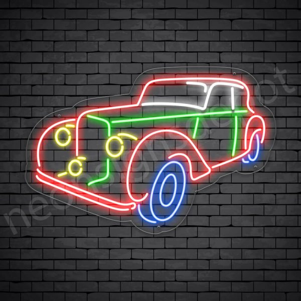 Car Neon Sign New Ford Pick Up Style Transparent - 24x15