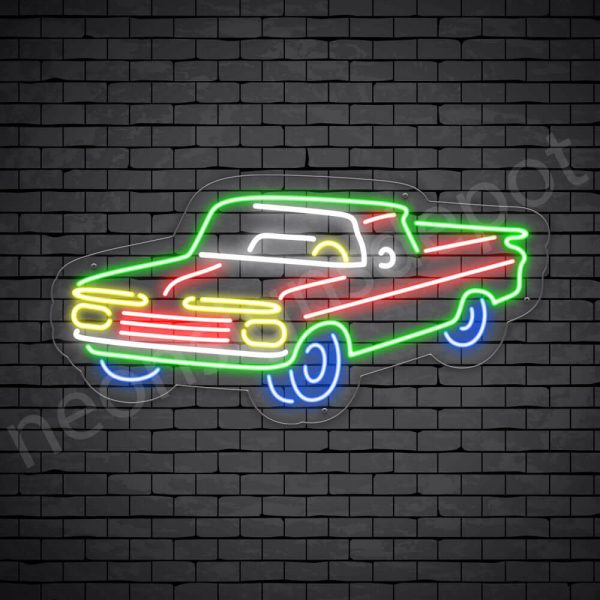 Car Neon Sign New Ford Style Transparent - 24x11