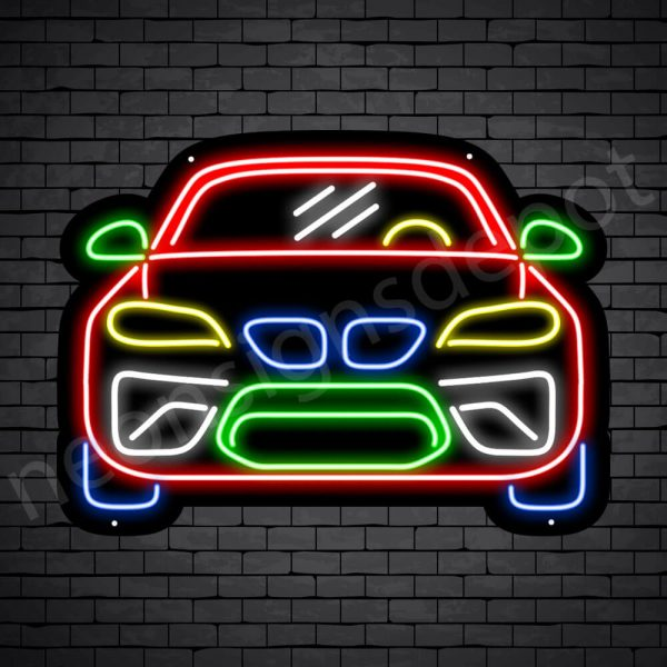 Car Neon Sign Sports Car Black - 24x18