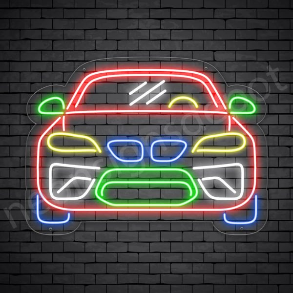 Car Neon Sign Sports Car Transparent - 24x18
