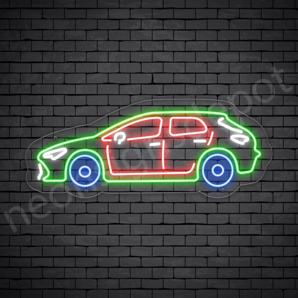 Car Neon Sign Toyota Corolla Transparent - 24x10