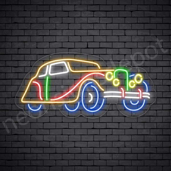 Car Neon Signs Vintage Transparent - 24x11