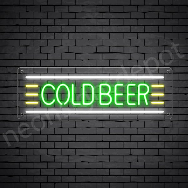 Cold Beer Neon Sign - Transparent