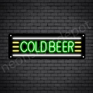 Cold Beer Neon Sign - Black