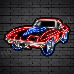 Corvette Stingray Neon Bar Sign - Black