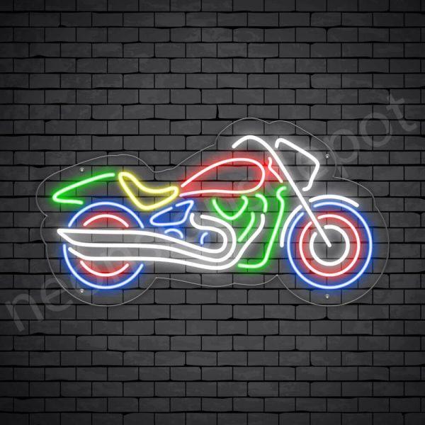 Motorcycle Neon Sign Big Bike Transparent - 24x13