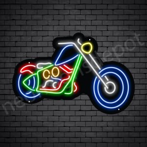 Motorcycle Neon Sign Long Chopper 24x16