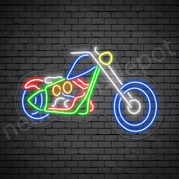 Motorcycle Neon Sign Long Chopper 30x20