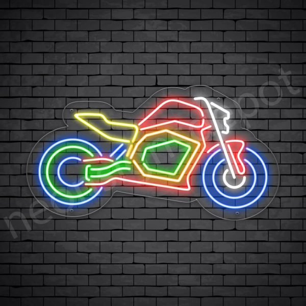 Motor Neon Sign Motor Bike Transparent -24x13