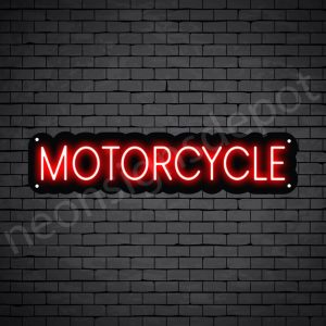 Motorcycle Neon Sign Motor Cycle Black - 24x6