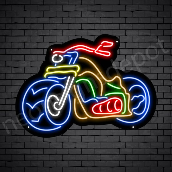 Motorcycle Neon Sign Motor Ride 24x18