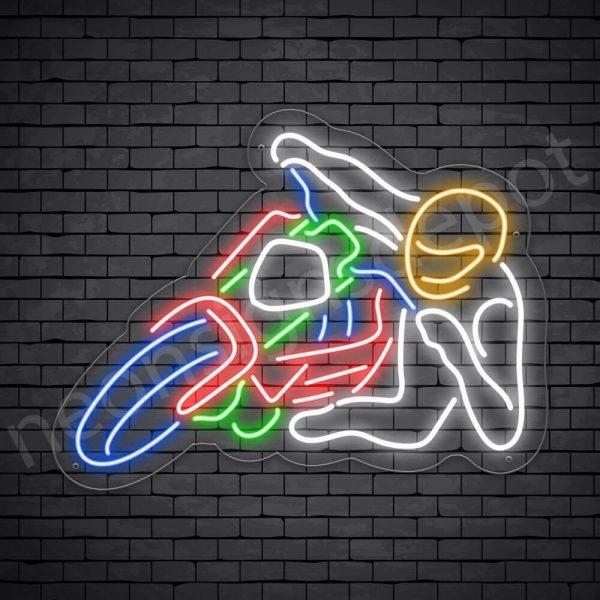 Motorcycle Neon Sign Motor Rider Transparent - 24x18