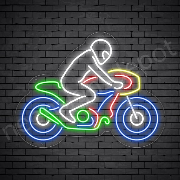 Motorcycle Neon Sign Motor Riders Bike Style Transparent - 24x18