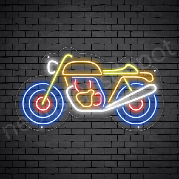 Motorcycle Neon Sign Motor Single Ride 24x14