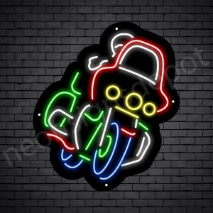 Motorcycle Neon Sign Riders Wind Shield - black