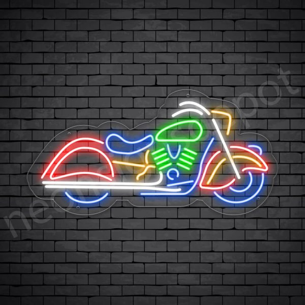 Motorcycle Neon Sign Riders Bike Transparent - 24x12