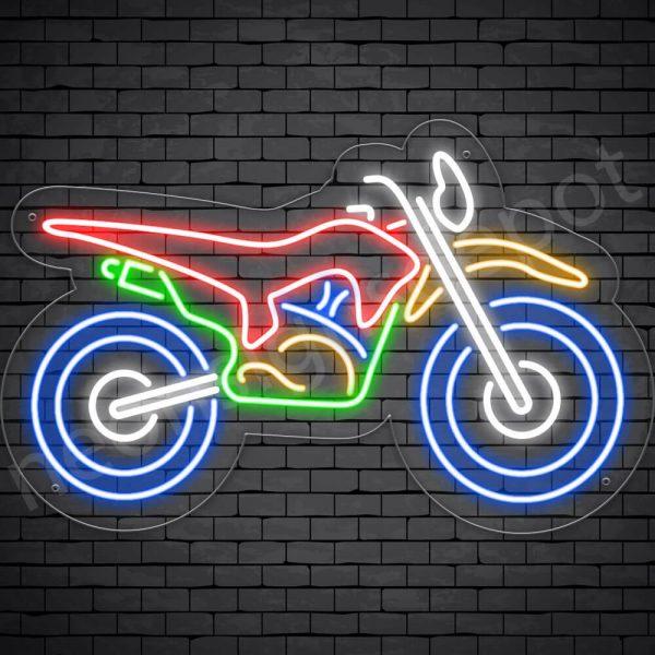Motorcycle Neon Sign Bike Transparent - 24x15