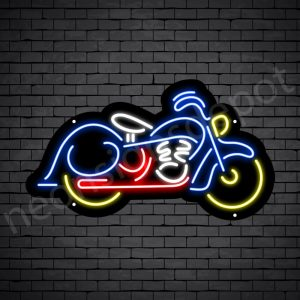 Motorcycle Yellow Neon Sign - Black