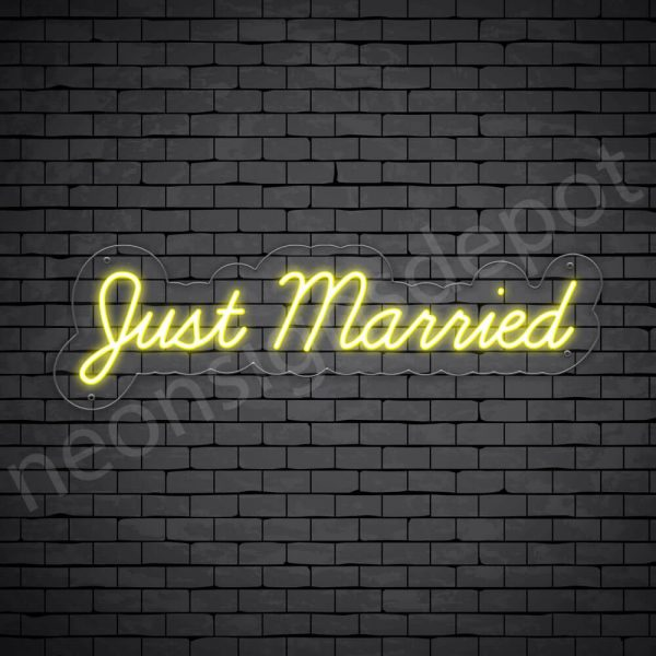 Phrases Neon Sign Just Married