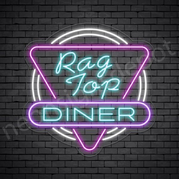 Rag Top Dinger Neon Sign - Transparent