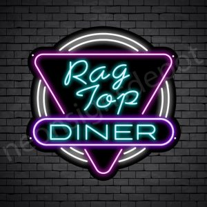 Rag Top Dinger Neon Sign - Black