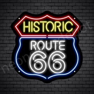 Route 66 Bar Neon Sign - Black