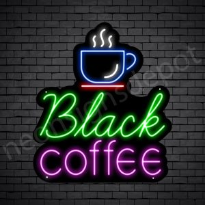 Coffee Neon Sign Black Coffee Black - 21x24