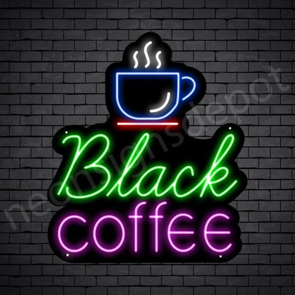 Coffee Neon Sign Black Coffee Black - 21x24