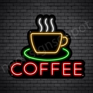 Coffee Neon Sign Coffee Black - 24x20