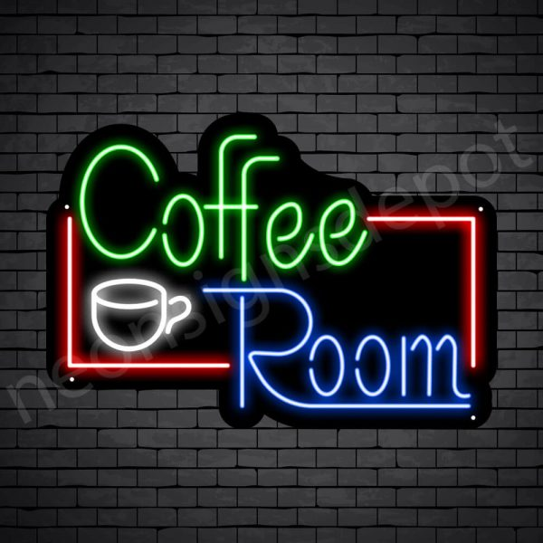 Coffee Neon Sign Coffee Room Black - 24x17