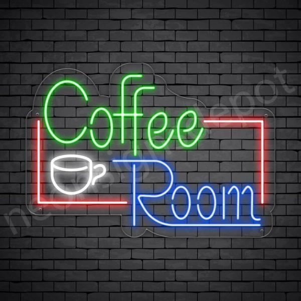 Coffee Neon Sign Coffee Room Transparent 24x17
